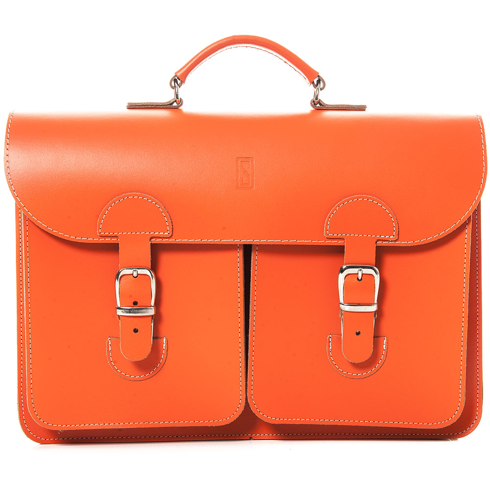 OldSchool Bags School - Aktentas XL Oranje
