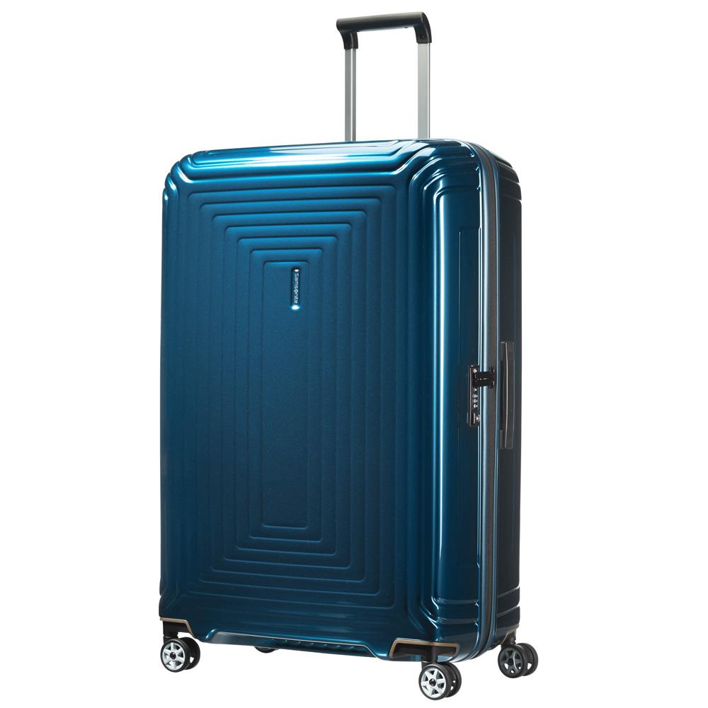 Samsonite Neopulse Spinner 81 Metallic Blue <br/>€ 269.00 <br/> <a href='http://tc.tradetracker.net/?c=10737&m=395139&a=107398&u=http%3A%2F%2Fwww.bagageonline.nl%2Fsamsonite-neopulse-spinner-81-metallic-blue.html%3Futm_campaign%3Dfeed' target='_blank'>Bestellen</a>
