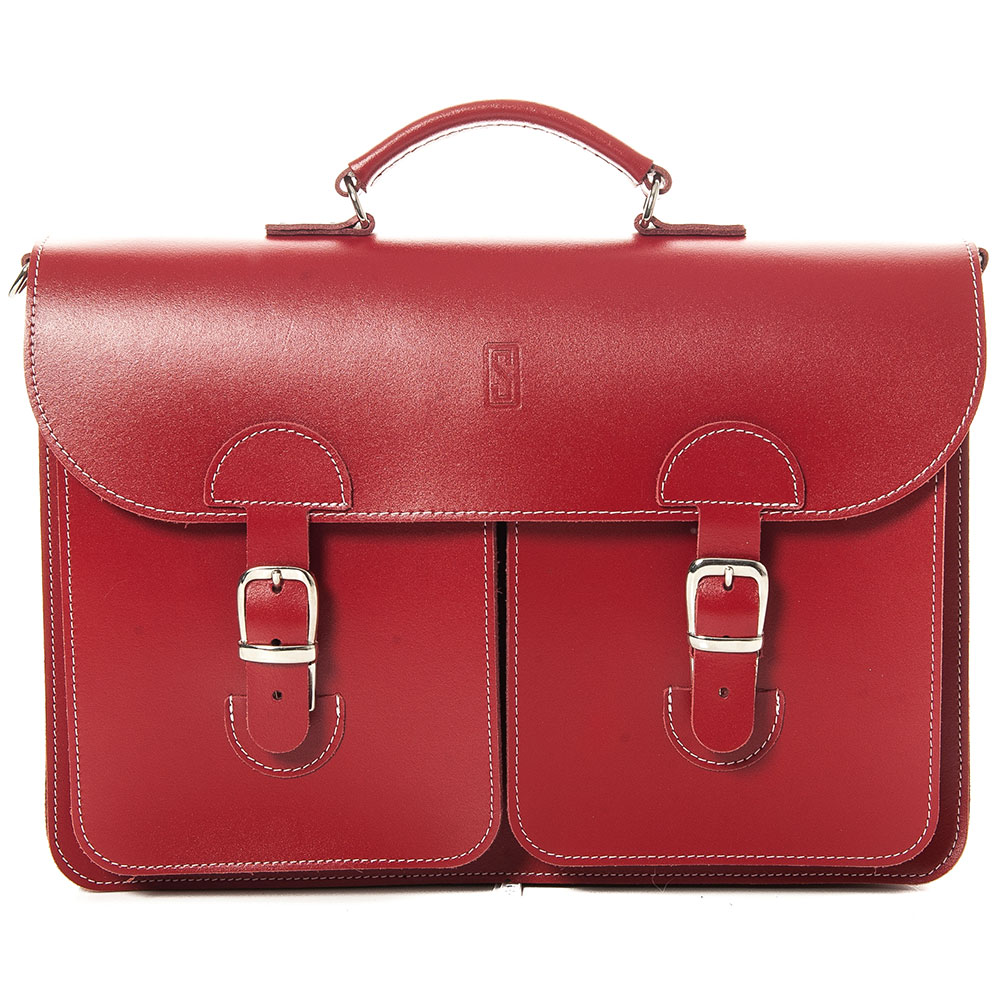OldSchool Bags School - Aktentas XL Klassiek Rood