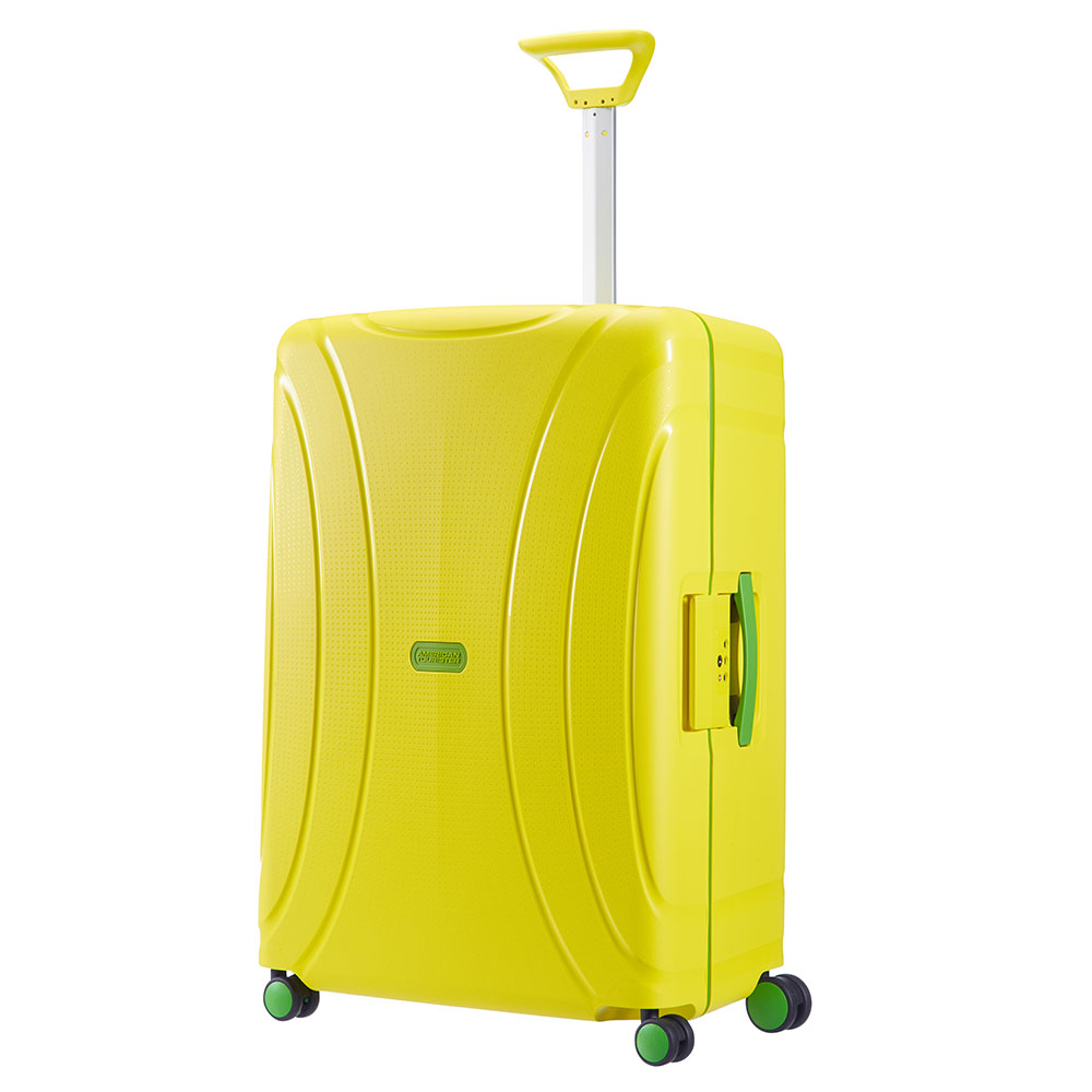 American Tourister Lock 'N' Roll Spinner 75 Sunshine Yellow <br/>€ 129.00 <br/> <a href='http://tc.tradetracker.net/?c=10737&m=395139&a=107398&u=http%3A%2F%2Fwww.bagageonline.nl%2Famerican-tourister-lock-n-roll-spinner-75-sunshine-yellow.html%3Futm_campaign%3Dfeed' target='_blank'>Bestellen</a>