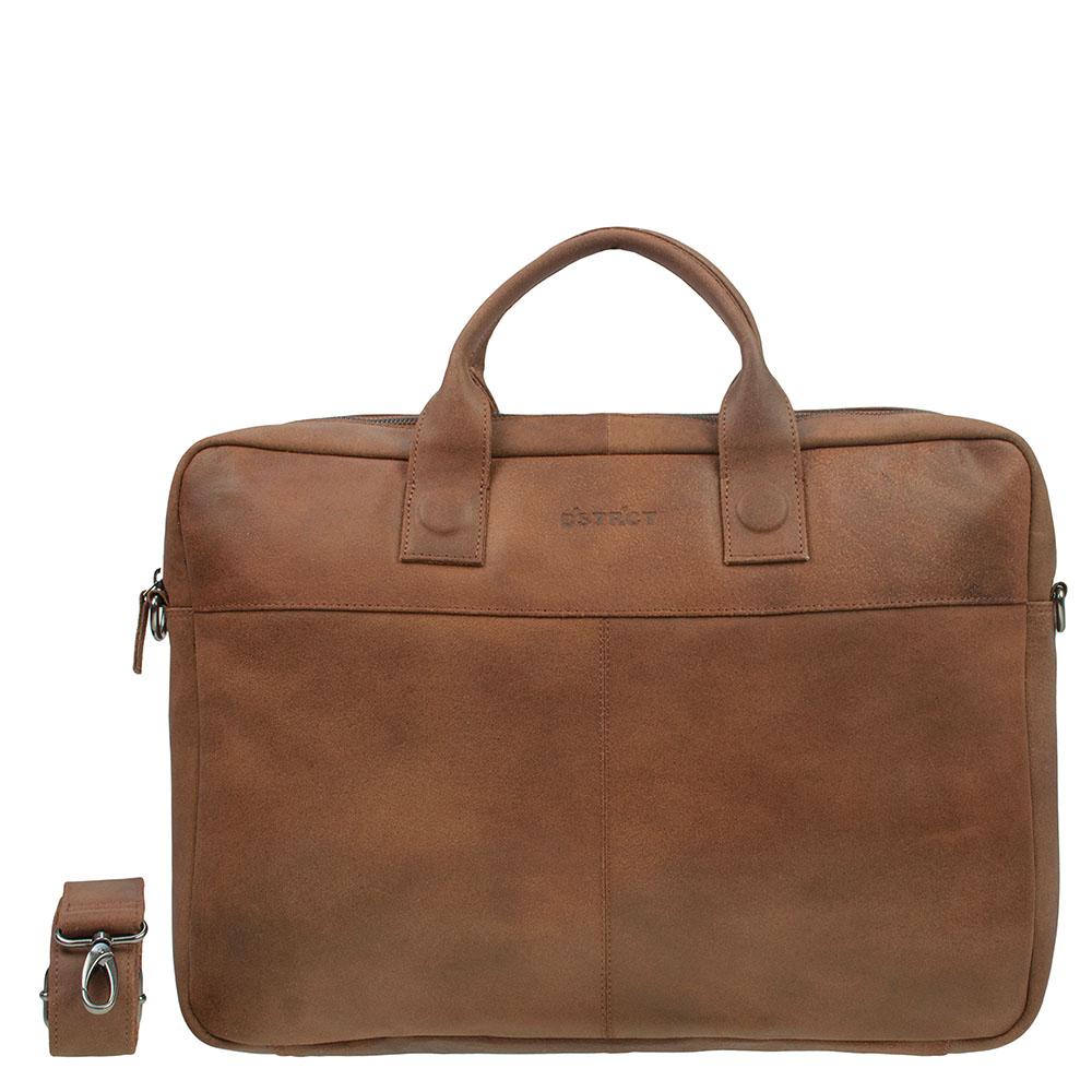 DSTRCT Fletcher Street Business Laptoptas 17'' Cognac 016720