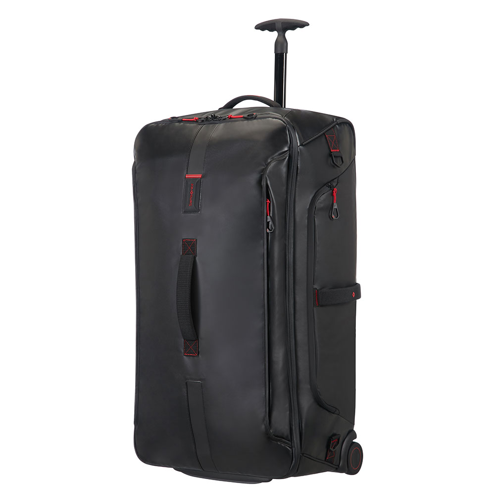 Samsonite Paradiver Light Duffle Wheels 79 Black <br/>€ 215.00 <br/> <a href='http://tc.tradetracker.net/?c=10737&m=395139&a=107398&u=http%3A%2F%2Fwww.bagageonline.nl%2Fsamsonite-paradiver-light-duffle-wheels-79-black.html%3Futm_campaign%3Dfeed' target='_blank'>Bestellen</a>