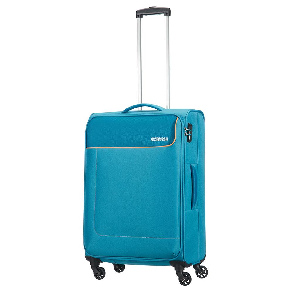 American Tourister Funshine Spinner 66 Blue Ocean <br/>€ 79.00 <br/> <a href='http://tc.tradetracker.net/?c=10737&m=395139&a=107398&u=http%3A%2F%2Fwww.bagageonline.nl%2Famerican-tourister-funshine-spinner-66-blue-ocean.html%3Futm_campaign%3Dfeed' target='_blank'>Bestellen</a>