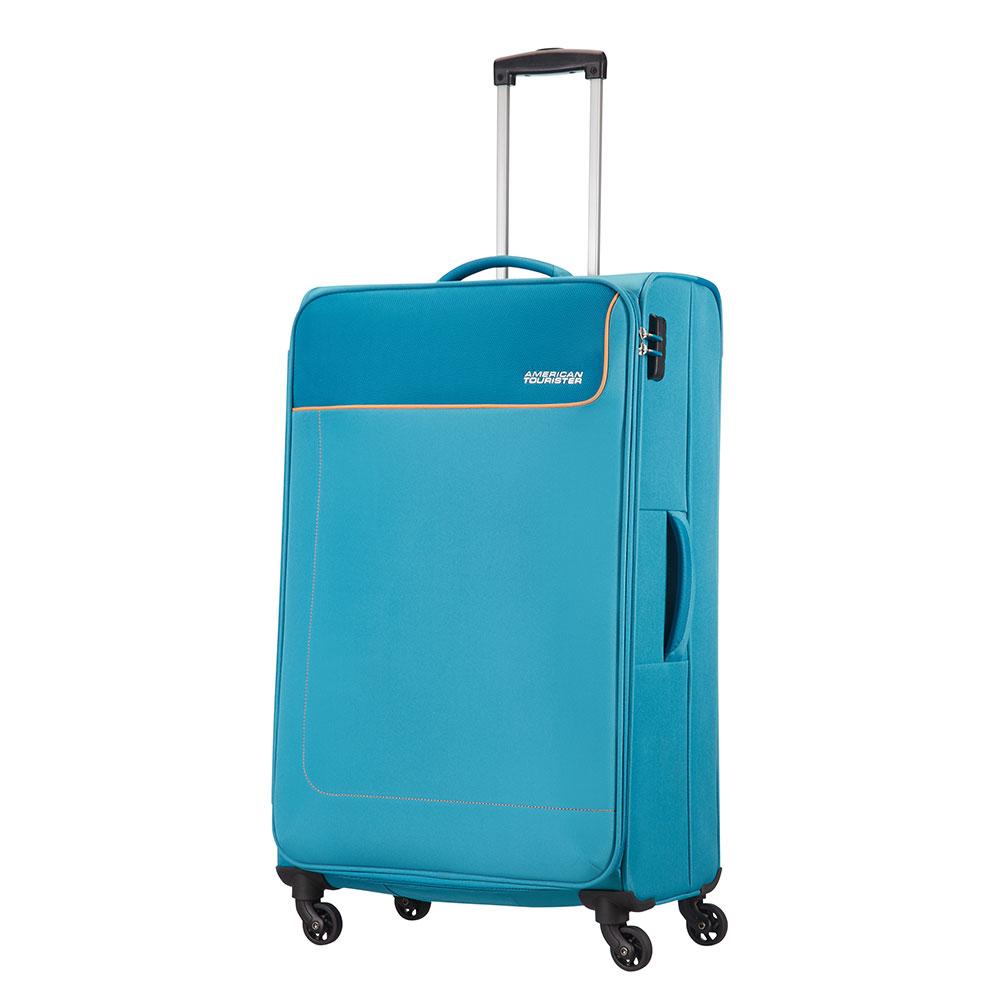 American Tourister Funshine Spinner 79 Blue Ocean <br/>€ 89.00 <br/> <a href='http://tc.tradetracker.net/?c=10737&m=395139&a=107398&u=http%3A%2F%2Fwww.bagageonline.nl%2Famerican-tourister-funshine-spinner-79-blue-ocean.html%3Futm_campaign%3Dfeed' target='_blank'>Bestellen</a>