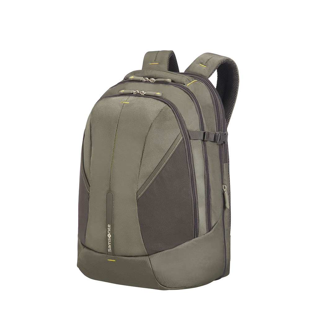 Samsonite 4Mation Laptop Backpack L Expandable olive-yellow