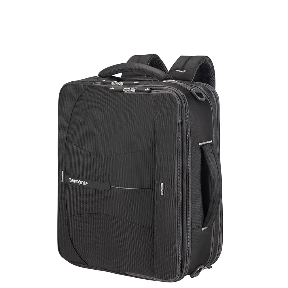 Samsonite 4Mation 3-Way Shoulder Bag Expandable Black/Silver