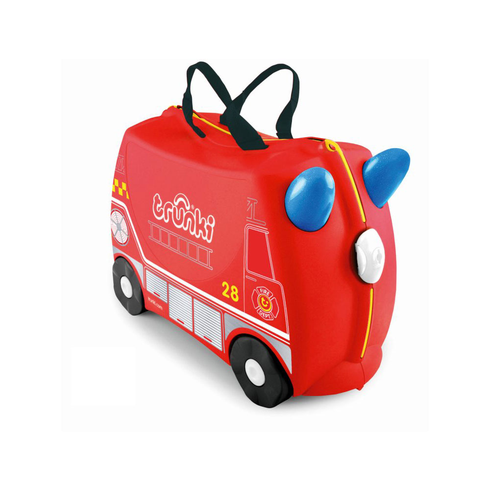 Trunki Ride-On Kinderkoffer Frank de Brandweerwagen