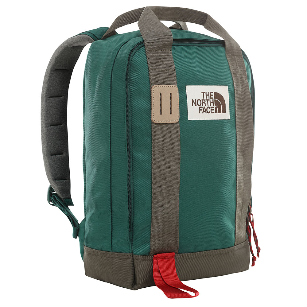 The North Face Tote Pack Backpack Night Green/ New Taupe Green