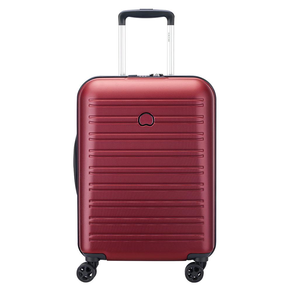 Delsey Segur 2.0 Slim Cabin Trolley Case 4 Wheel 55 Red