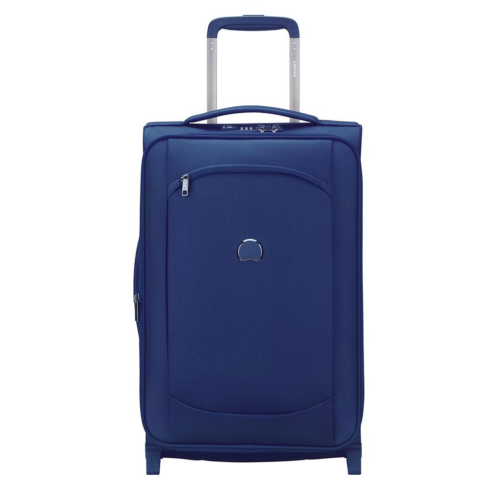 Delsey Montmartre Air 2.0 Slim Cabin Trolley Case 2 Wheel 55 Expandable Blue