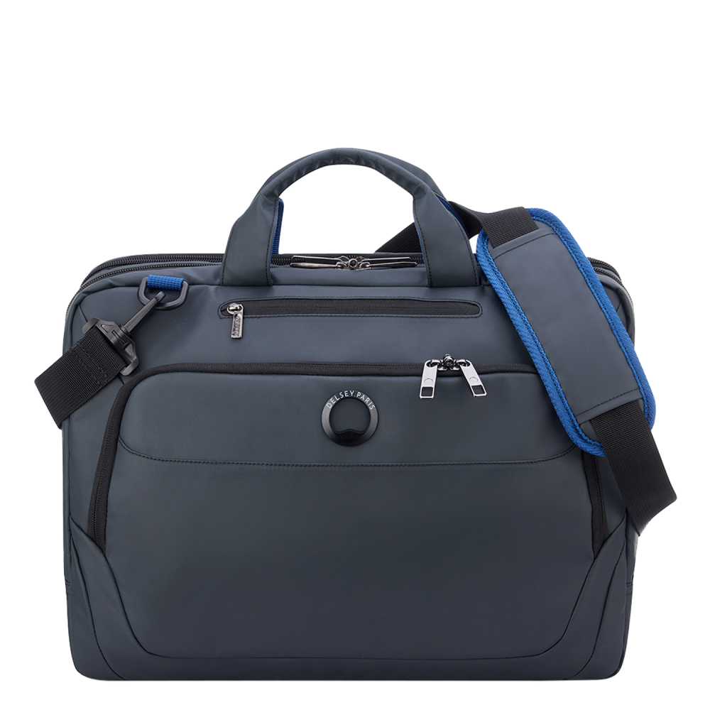 Delsey Parvis Plus Laptop Bag 2-CPT 15.6 Grey