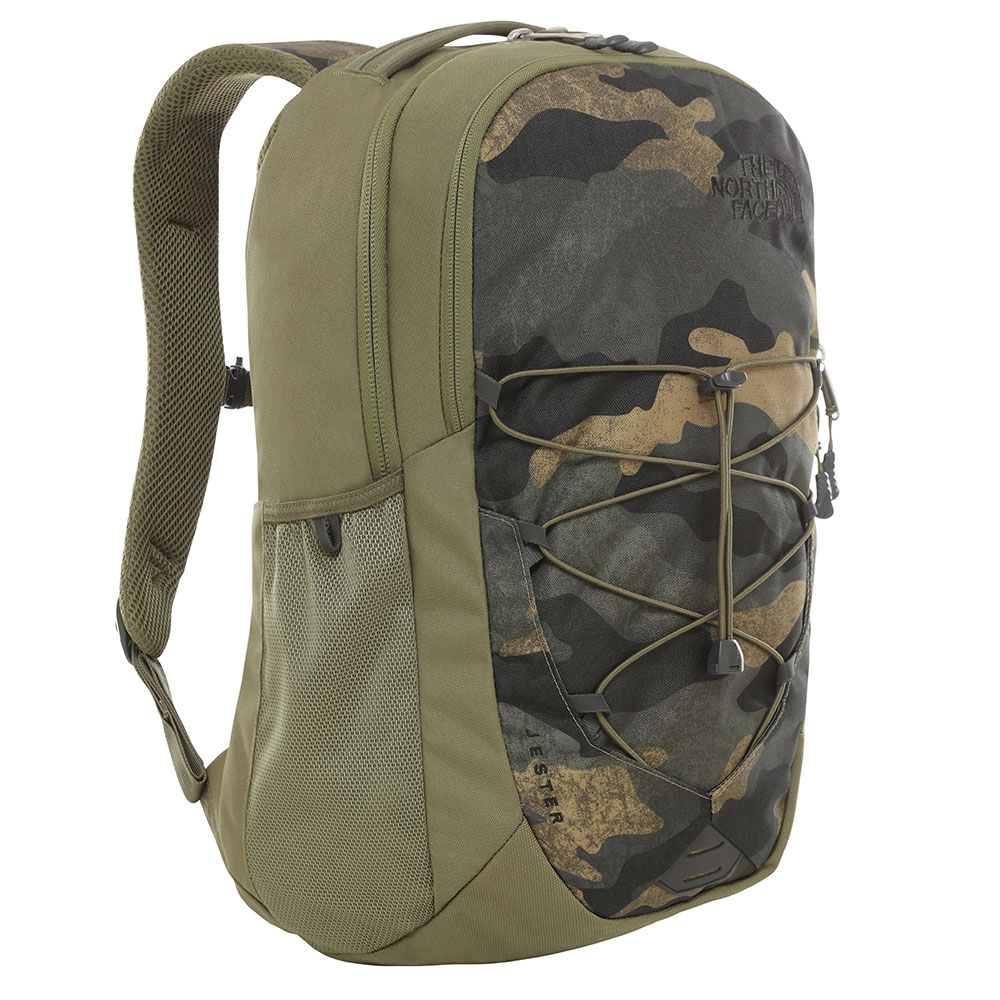 The North Face Jester Rugzak Burnt Olive Green Woods Camo Print/ Burnt Olive Gre