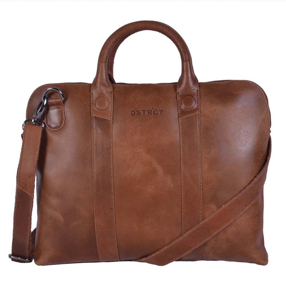 "DSTRCT Fletcher Street Business Laptoptas 11.6"" Cognac 016020"