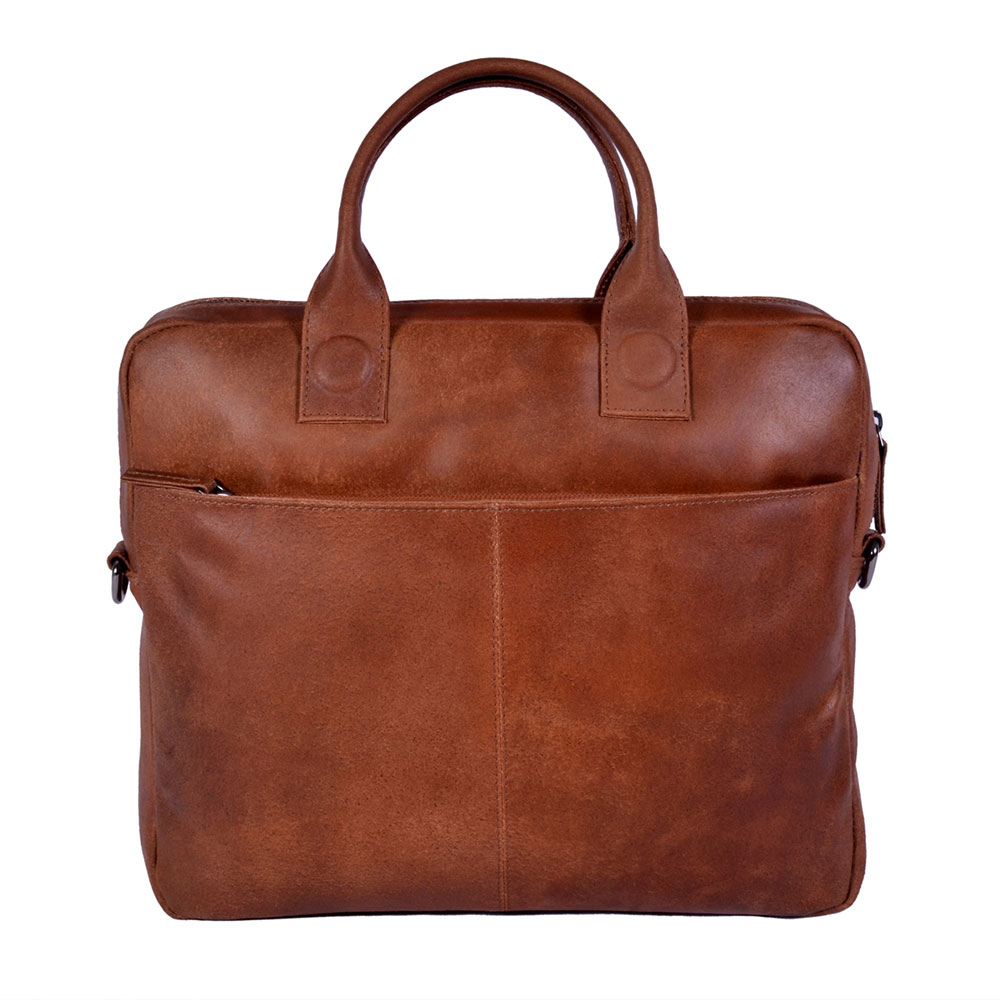 "DSTRCT Fletcher Street Business Laptoptas 13.3"" Cognac 016120"