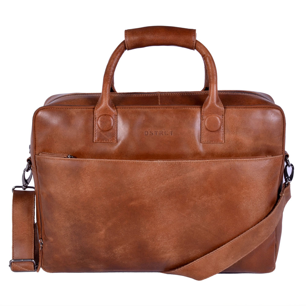 DSTRCT Fletcher Street Business Laptoptas 17'' Cognac 016420