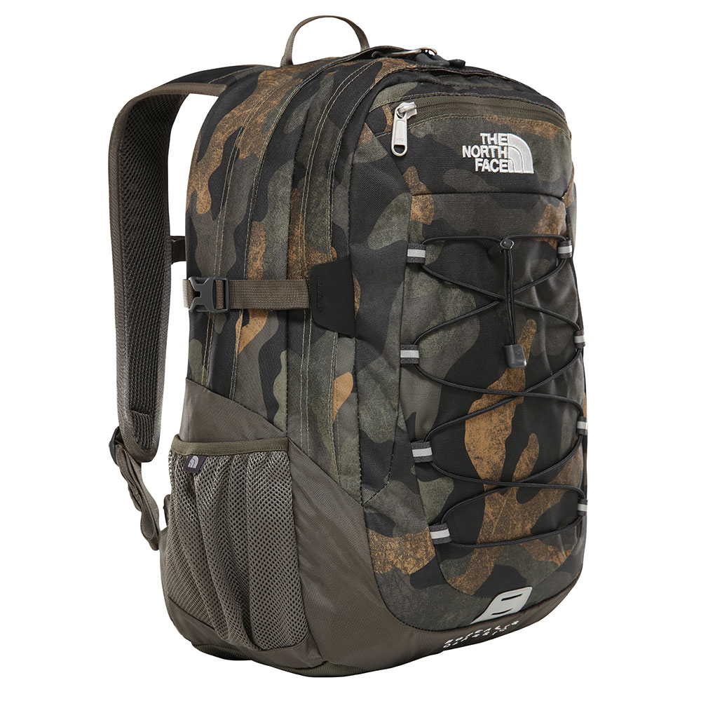 The North Face Borealis Classic Rugtas Burnt Olive Green Waxed Camo Print