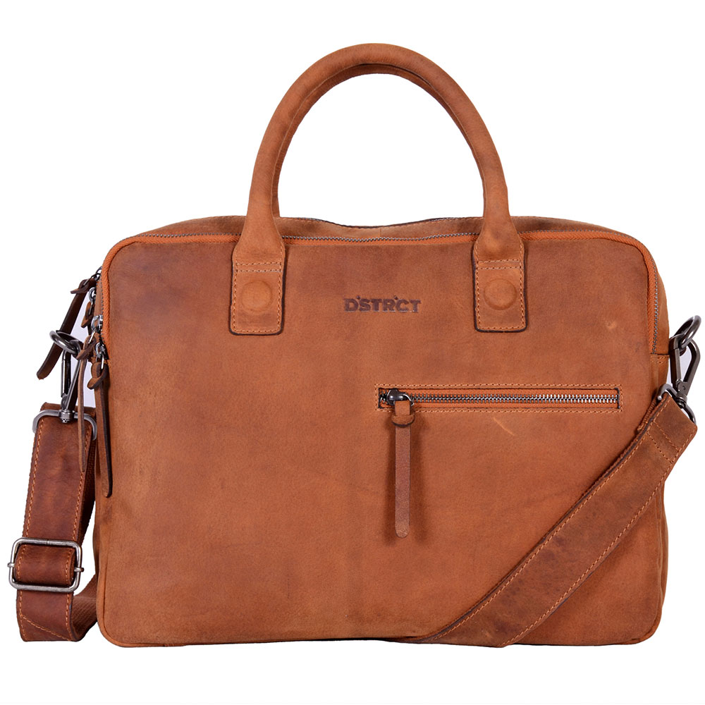 "DSTRCT Wall Street Business Laptoptas 15.4"" Double Cognac"