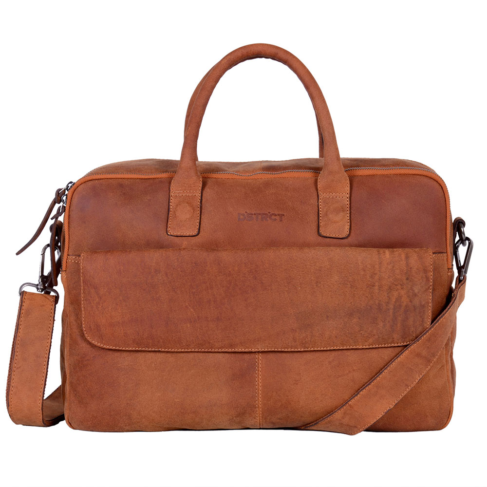 DSTRCT Wall Street Business Laptoptas 17'' Cognac 76420