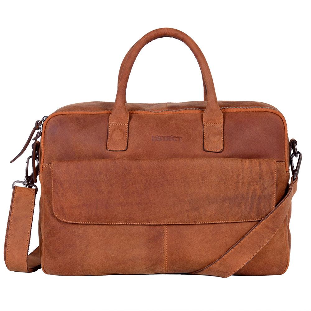 DSTRCT Wall Street Business Laptoptas 17'' Cognac