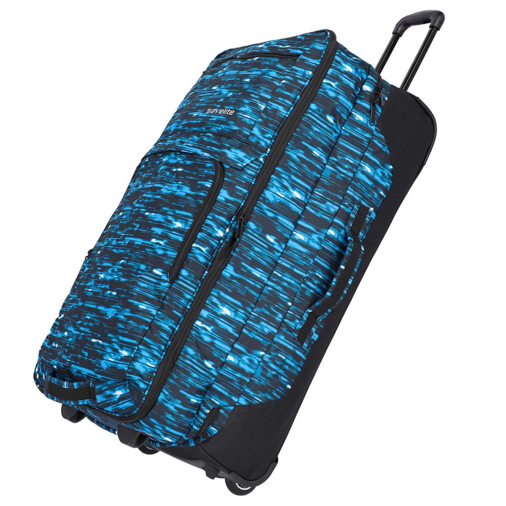 Travelite Basics Doubledecker Wheeled Duffle Blue Print