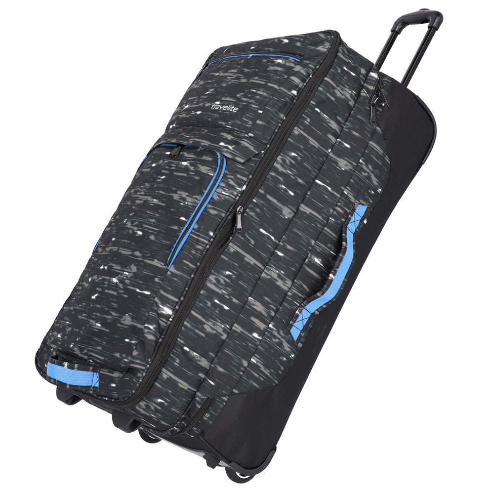 Travelite Basics Doubledecker Wheeled Duffle Black Print