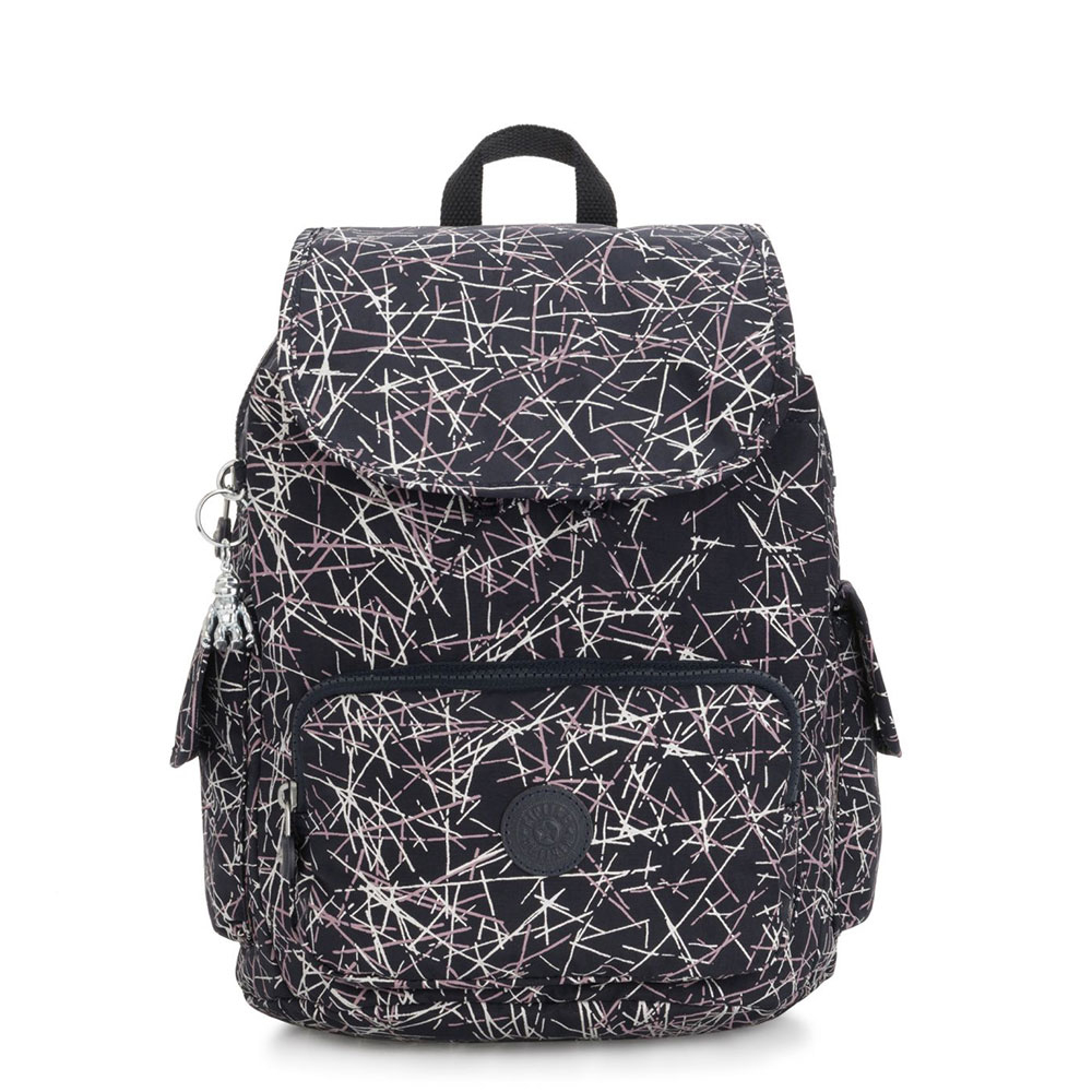 Kipling City Pack S Backpack Navy Stick Print