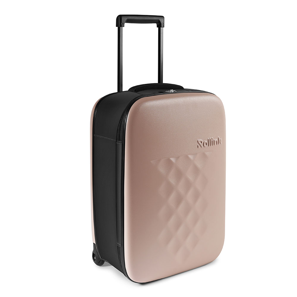 Rollink Flex Vega Opvouwbare Handbagage Koffer 55 Rose Smoke