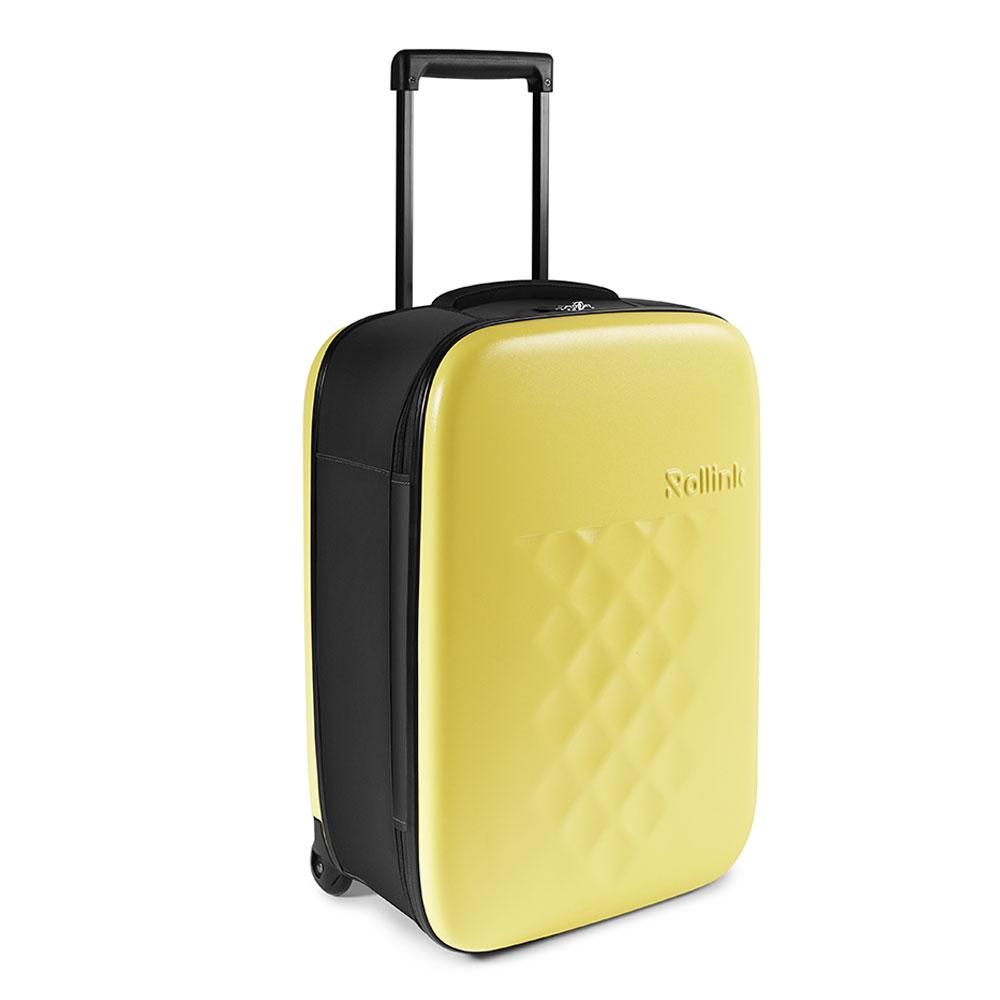 Rollink Flex Vega Opvouwbare Handbagage Koffer 55 Yellow Iris