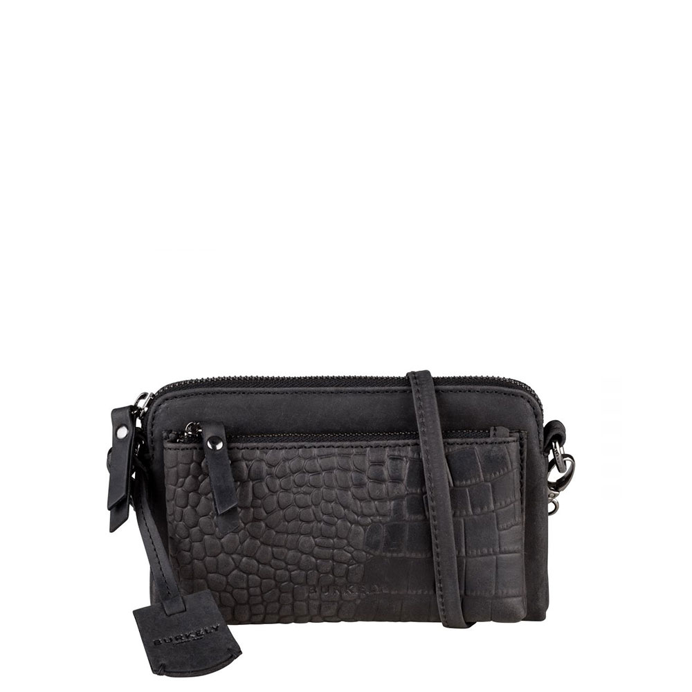 Burkely Croco Cody Minibag New Black