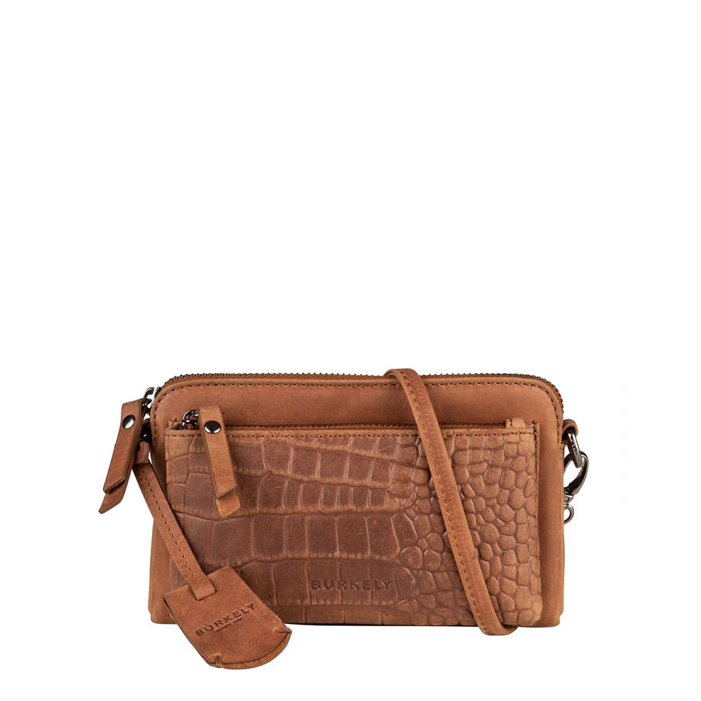 Burkely Croco Cody Minibag New Cognac