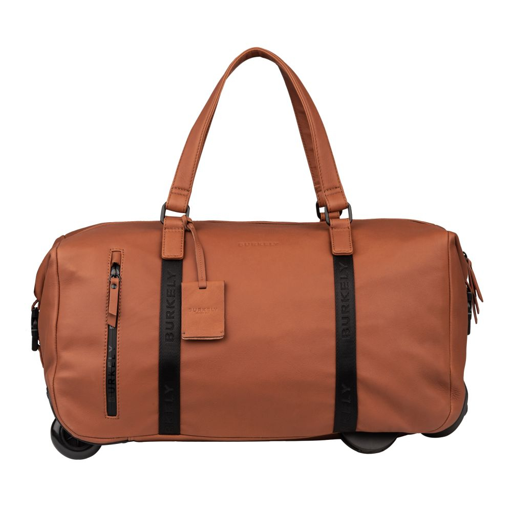Burkely Rain Riley Weekend Trolley Cognac