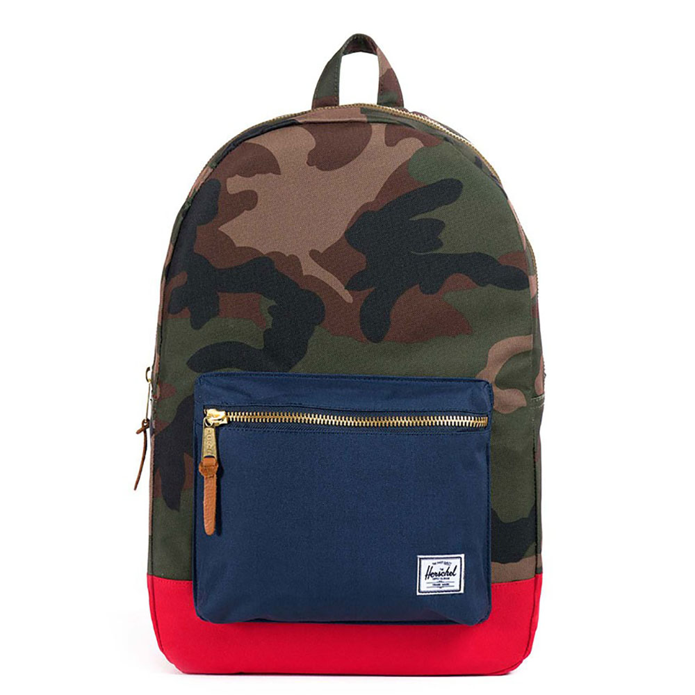 Herschel Settlement Rugzak Woodland Camo/Navy/Red