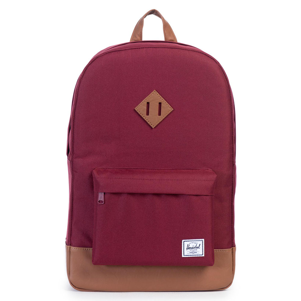 Herschel Heritage Rugzak Windsor Wine/Tan Synthetic Leather