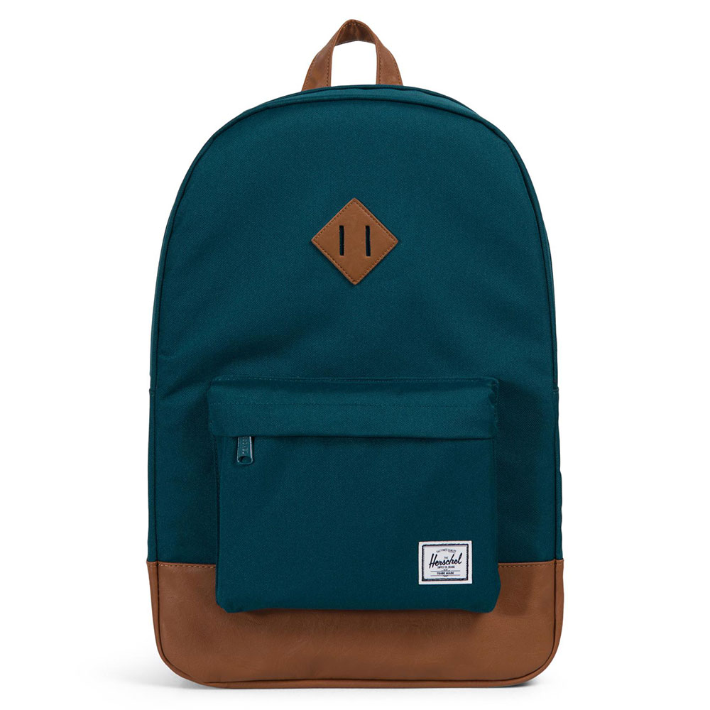 Herschel Heritage Rugzak Deep Teal/Tan Synthetic Leather
