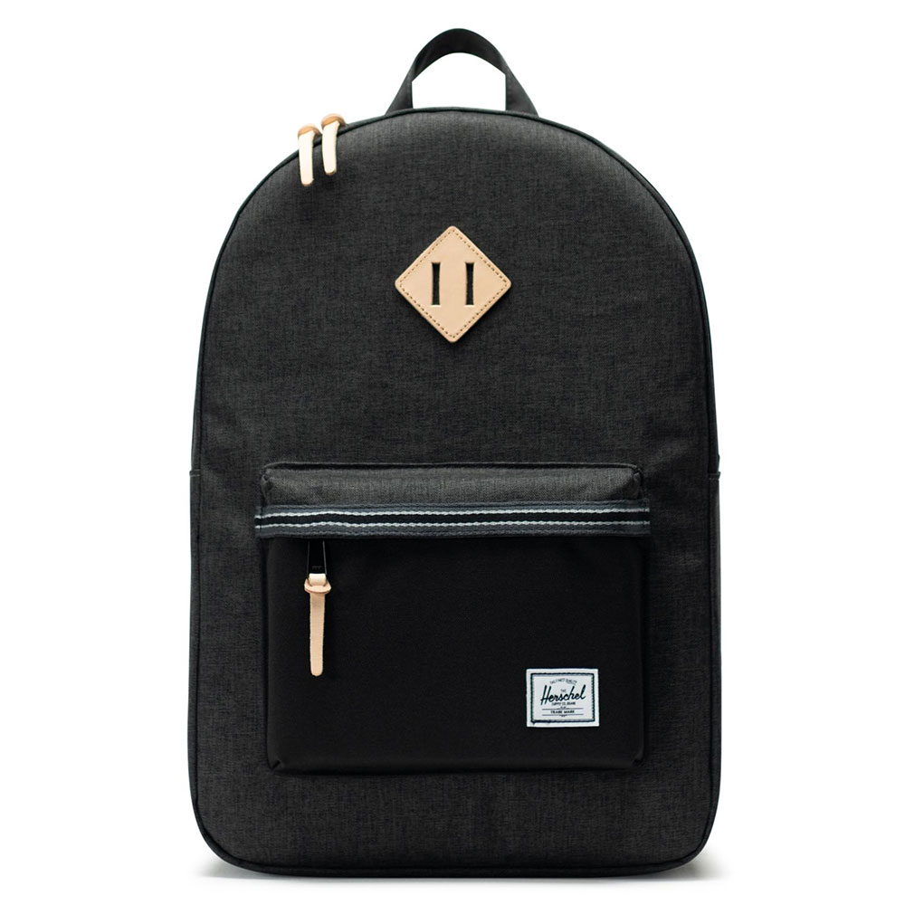 Herschel Heritage Offset Rugzak Black Crosshatch/Black