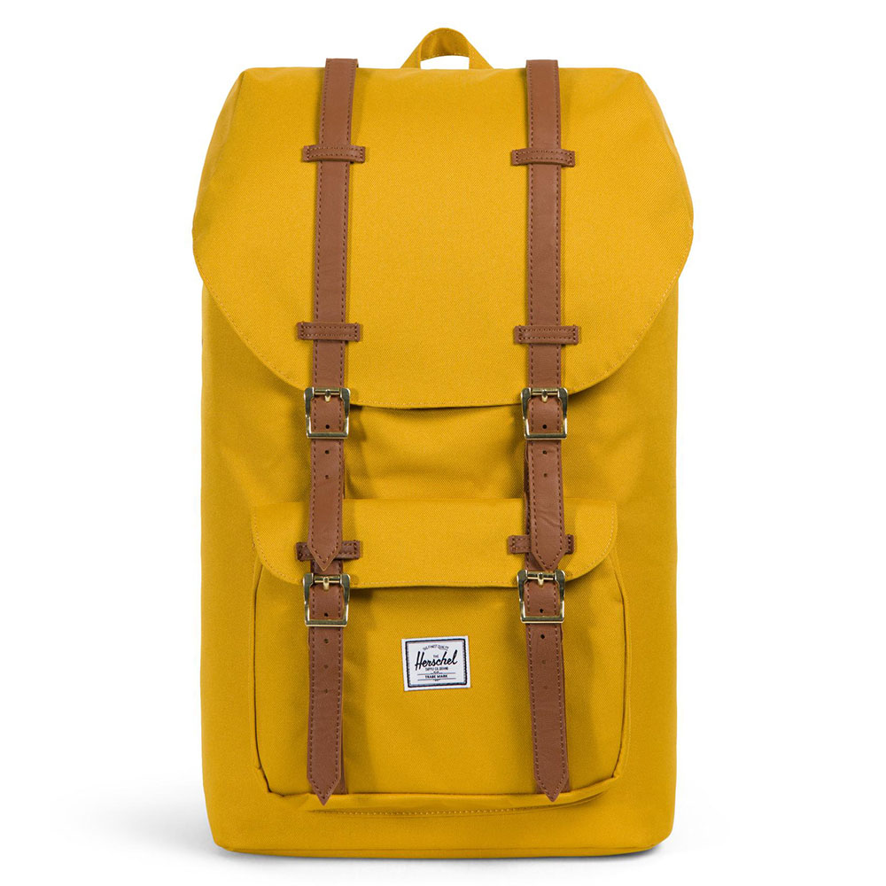 Herschel Little America Rugzak Arrowwood/Tan Synthetic Leather