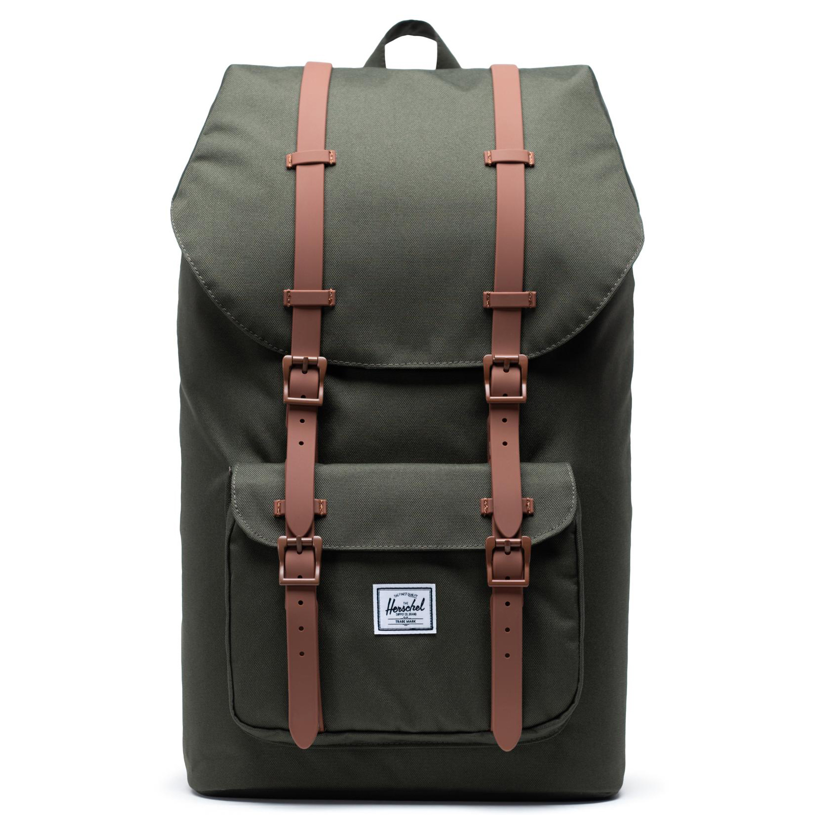 Herschel Little America Rugzak Dark Olive Saddle Brown