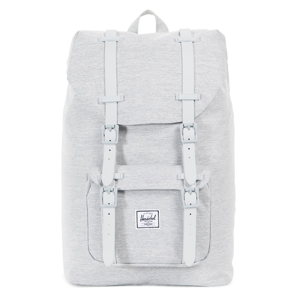 Herschel Little America Mid Volume Rugzak Light Grey Crossharch/Grey Rubber