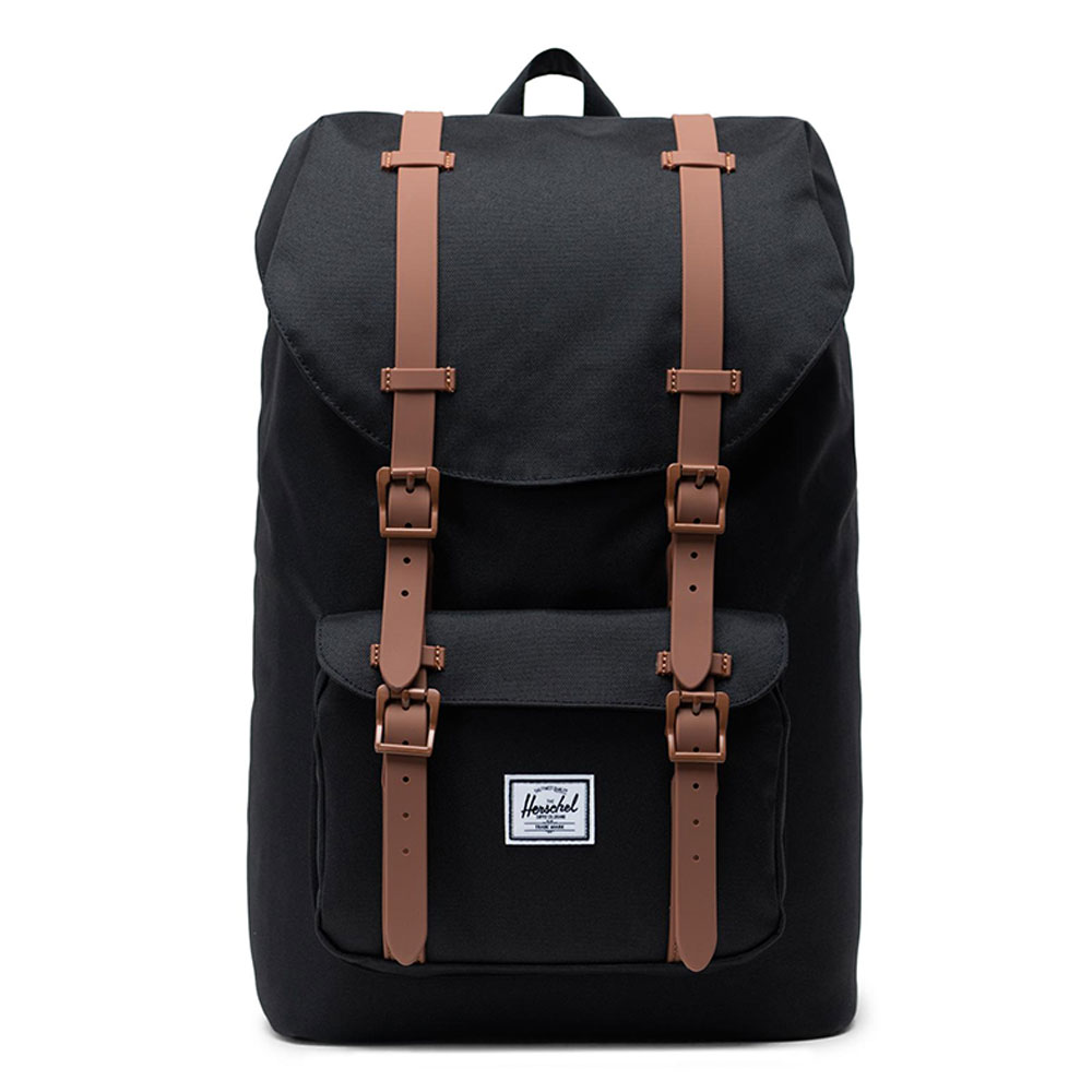 Herschel Little America Mid Volume Rugzak Black/ Saddle Brown/ Rubber