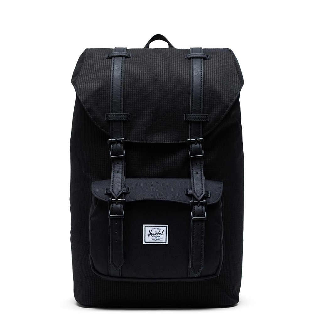 Herschel Little America Mid Volume Rugzak Dark Grid Black