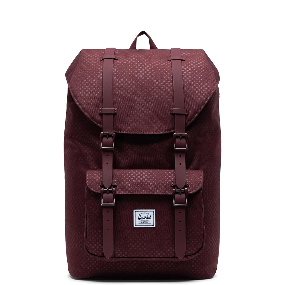 Herschel Little America Mid Volume Rugzak Plum Dot Check