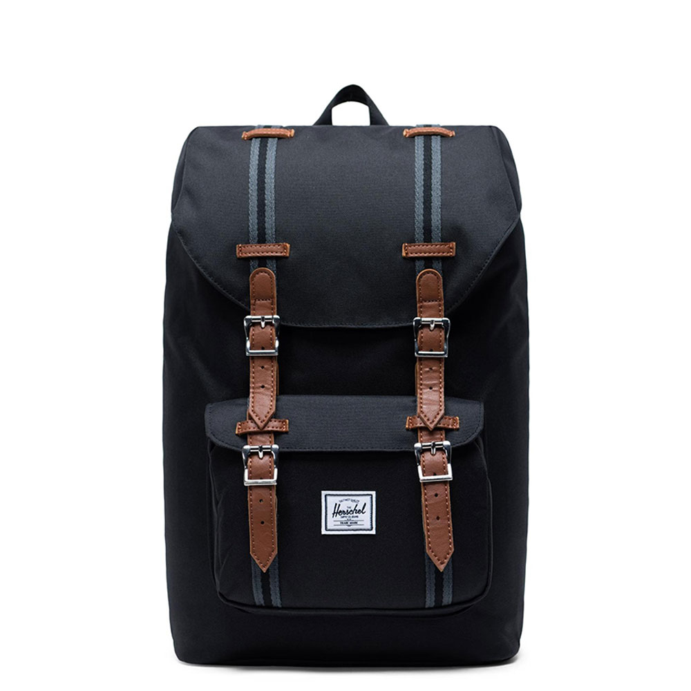 Herschel Supply Co. Little America Mid-Volume Rugzak Black-Black-Tan