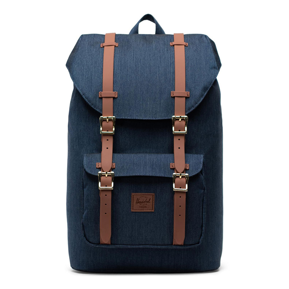 Herschel Little America Mid Volume Rugzak Indigo Denim Crosshatch