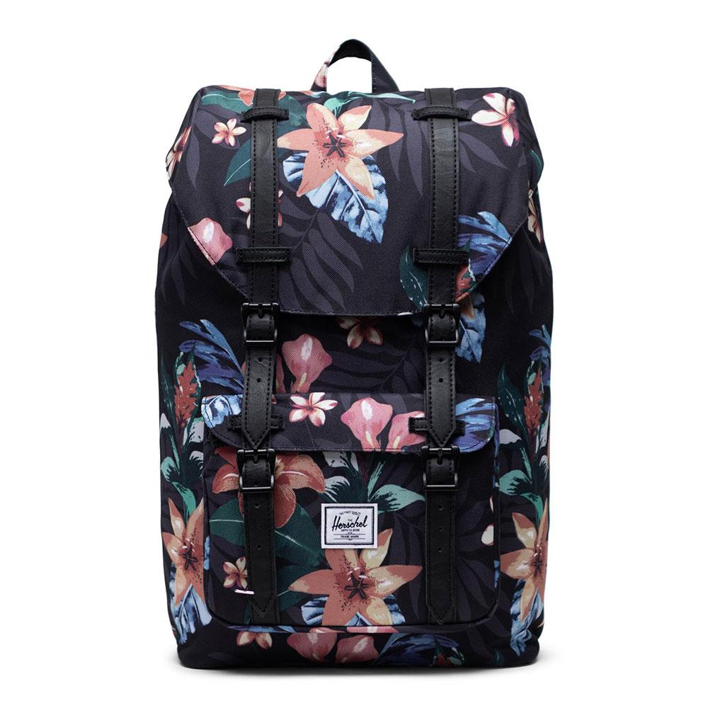 Herschel Little America Mid Volume Rugzak Summer Floral Black