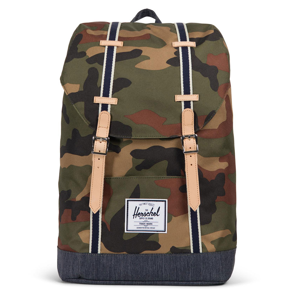 Herschel Retreat Rugzak Offset Woodland Camo/Dark Denim