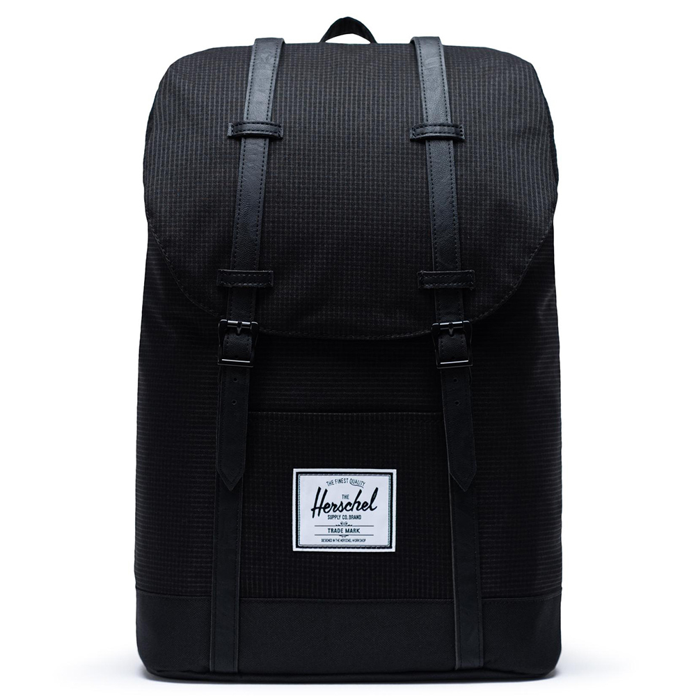 Herschel Retreat Rugzak Dark Grid Black