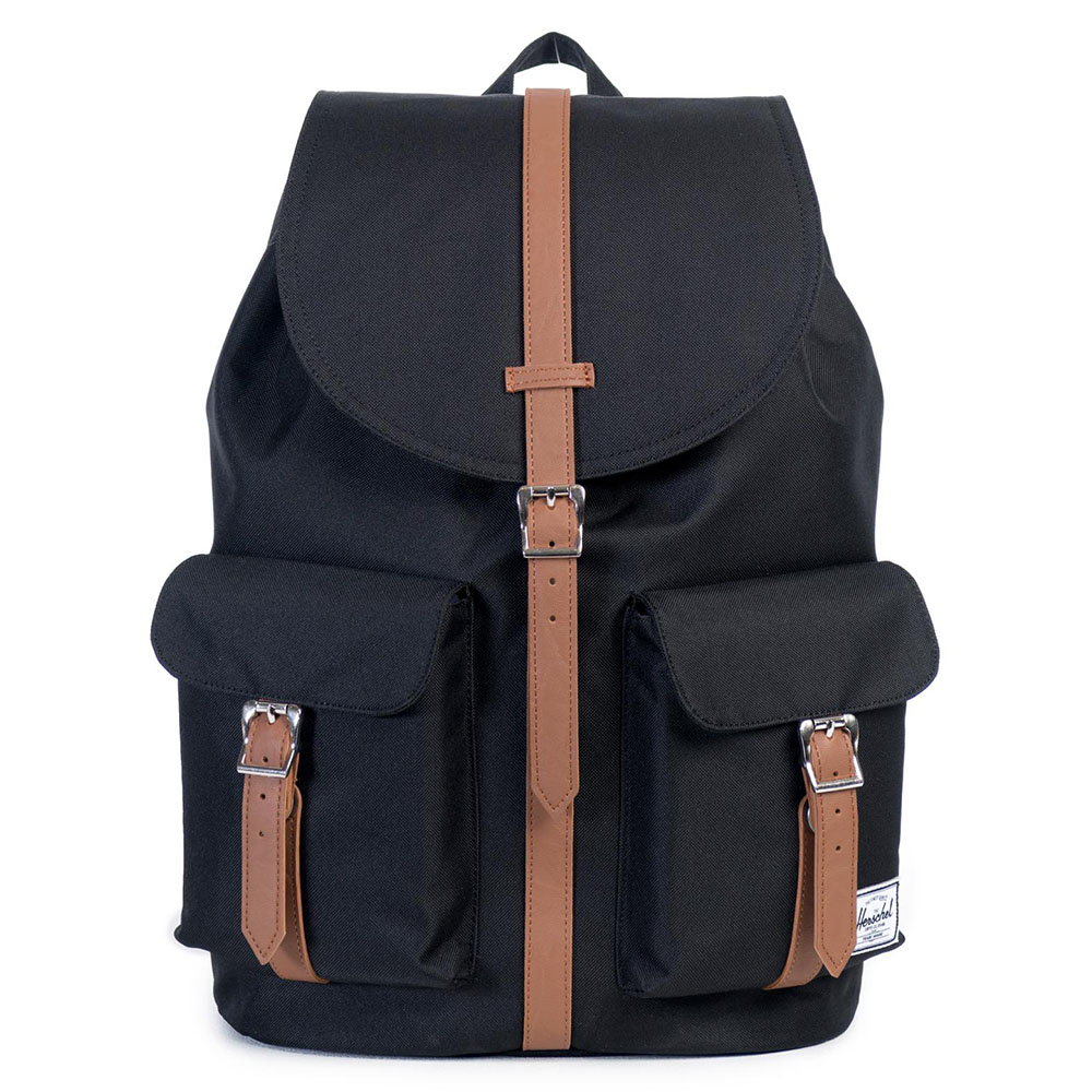 Herschel Dawson Rugzak Black/Tan Synthetic Leather