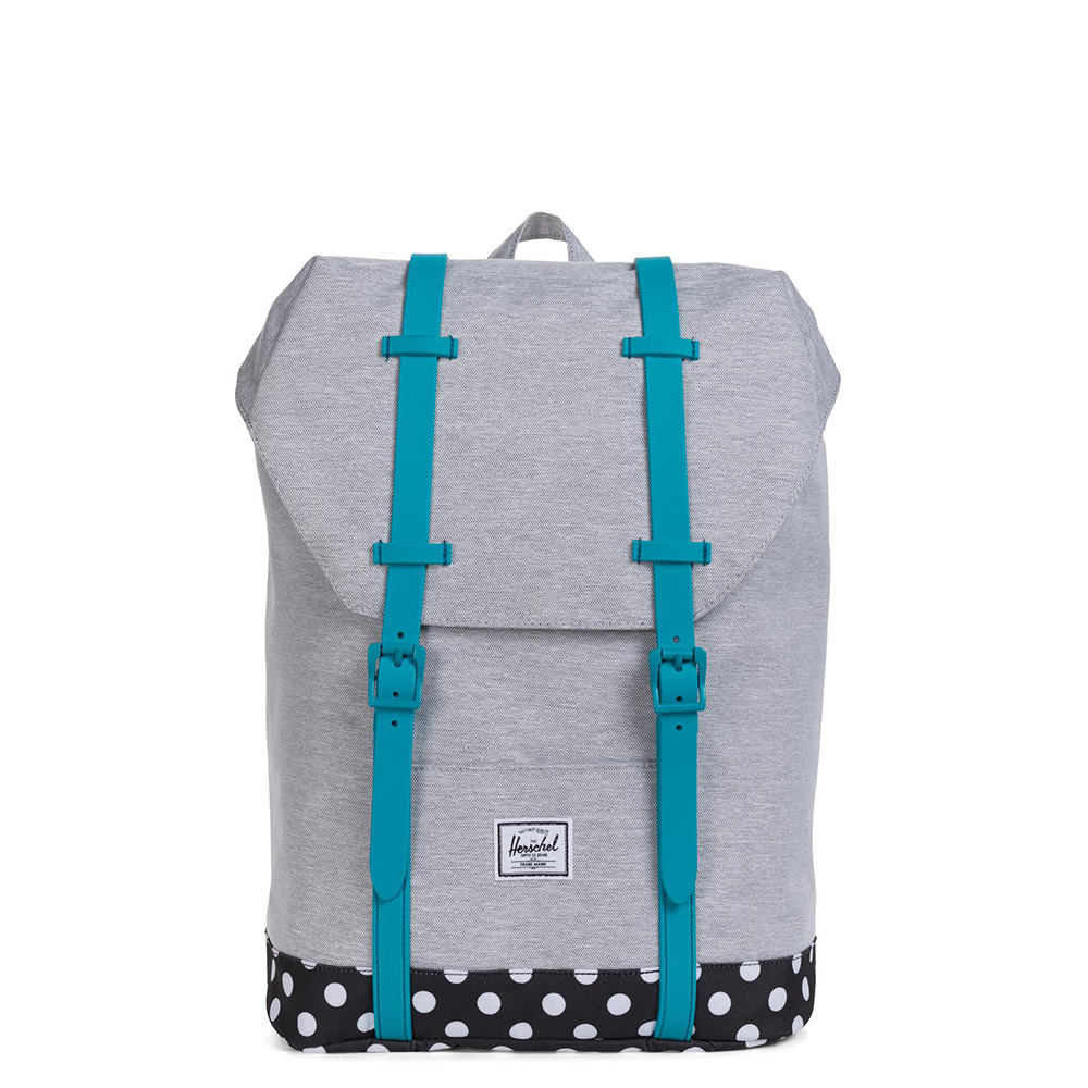 Herschel Retreat Youth Rugzak Light Grey Crossh/Tile Blue