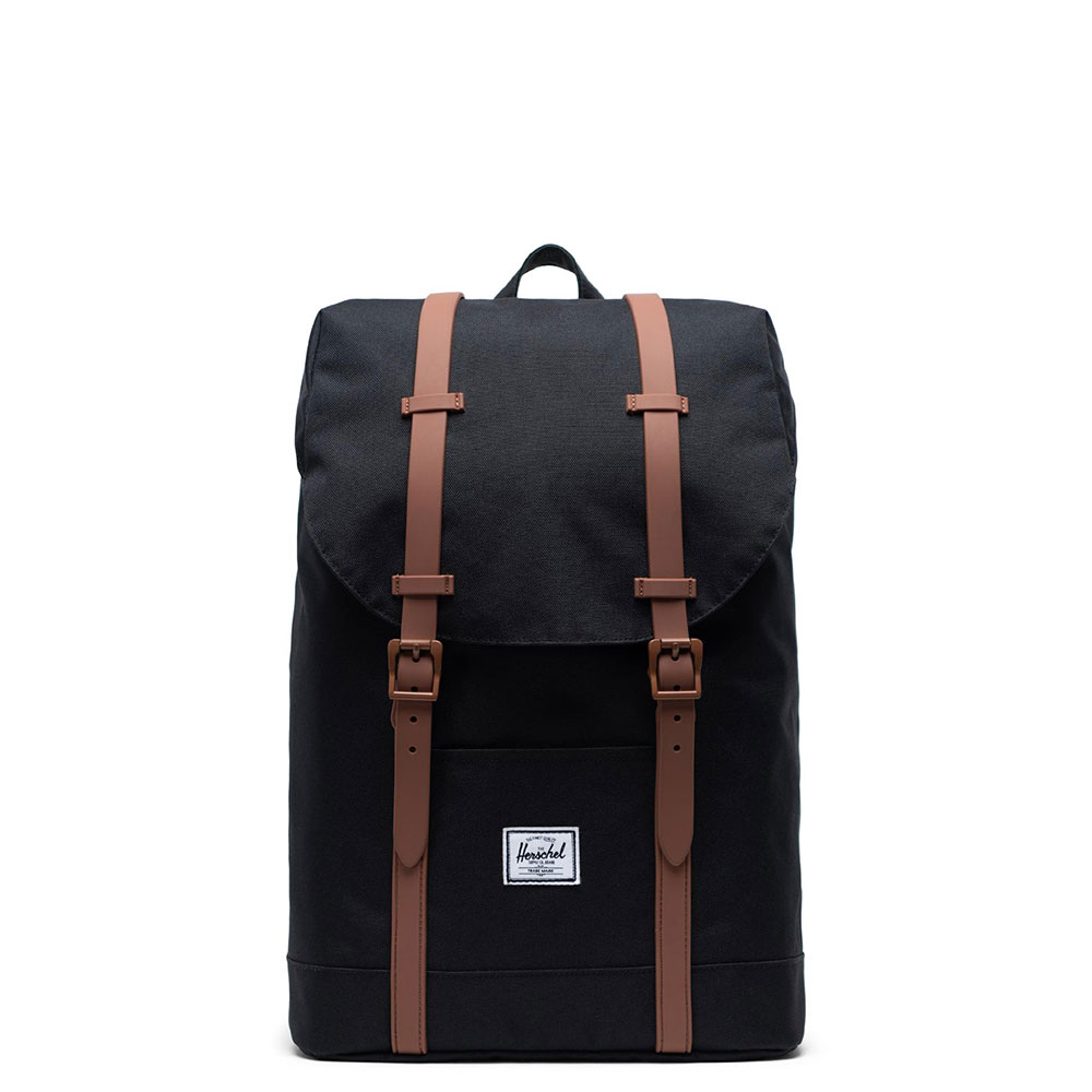 Herschel Retreat Youth Rugzak Black/Saddle Brown