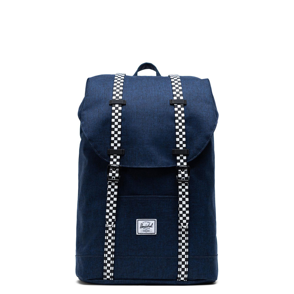 Herschel Retreat Youth Rugzak Medieval Blue Crosshatch/Checkerboard